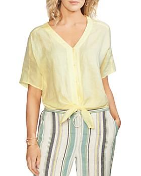 705d9014363a8 VINCE CAMUTO - Linen Tie-Hem Shirt ...