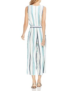 VINCE CAMUTO - Belted Striped Jumpsuit