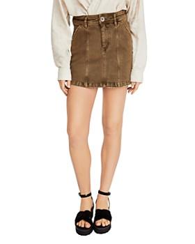 Free People - Lennox Seamed Mini Skirt