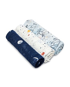 Aden and Anais - Boys' 3-Piece Swaddle Blanket Set
