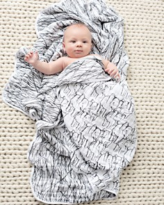 Aden and Anais - Unisex Sage Advice Reversible Print Blanket