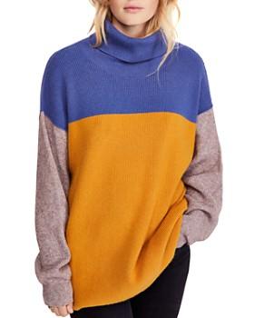 9dd57ddaf9808 Free People - Color-Block Turtleneck Sweater ...
