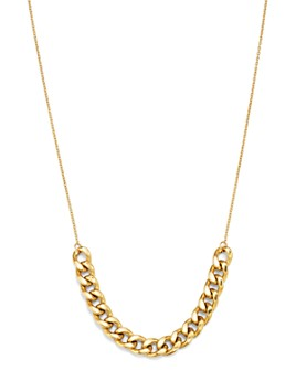 """Zoë Chicco - 14K Yellow Gold Large Curb Chain Necklace, 18"""""""
