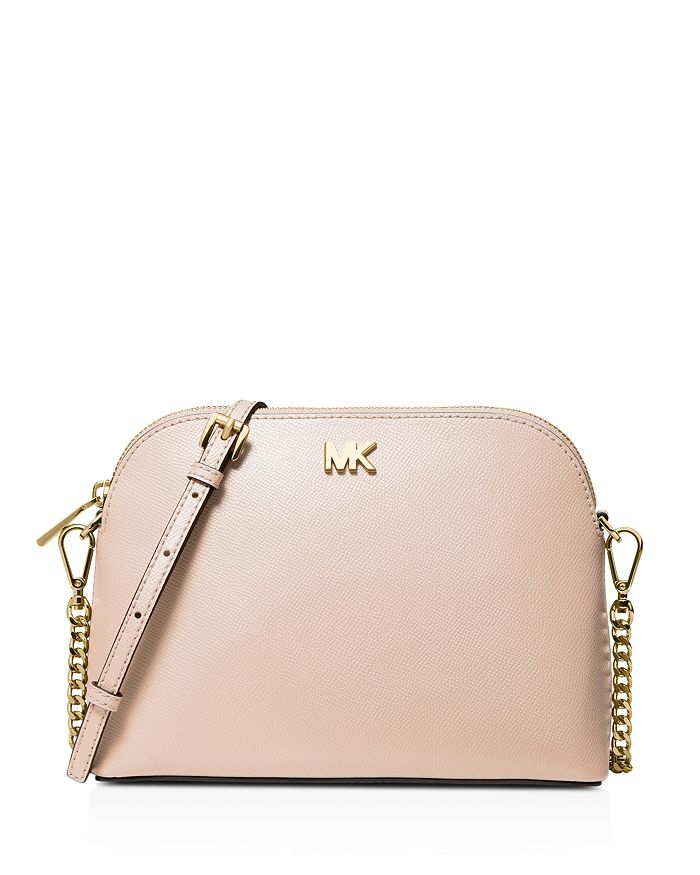 MICHAEL Michael Kors - Large Leather Zip Dome Crossbody
