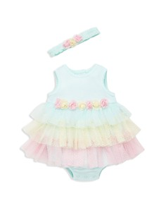 Little Me - Girls' Tiered-Tutu Bodysuit-Dress & Headband Set - Baby