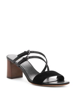 BOTKIER | Botkier Women's Dune Suede & Leather Block Heel Slide Sandals | Goxip