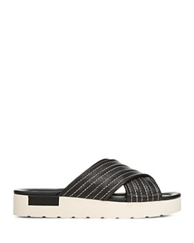 Vince - Women's Camden Leather Platform Slide Sandals