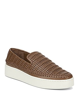 Vince - Women's Stafford Woven Leather Platform Slip-On Sneakers