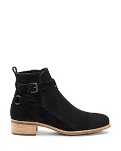 Aquatalia - Women's Odetta Weatherproof Suede Buckled Strap Booties