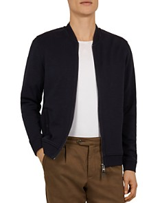 Ted Baker - Livid Bomber Jacket with Woven Panels