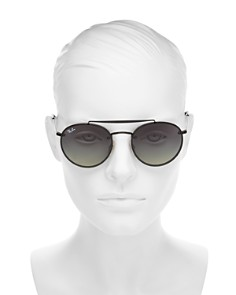 Ray-Ban - Women's Brow Bar Aviator Sunglasses, 54mm