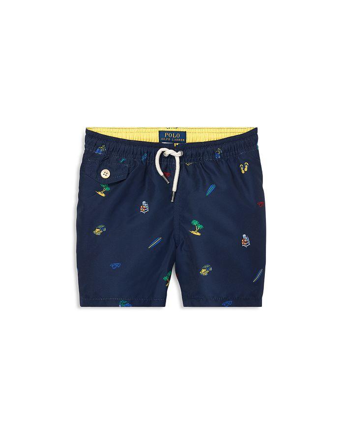 1062dcdbeb9eb3 Ralph Lauren Boys' Traveler Print Swim Trunks - Little Kid ...