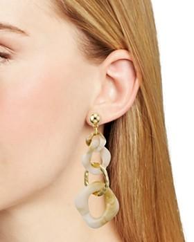 AQUA - Asymmetric Interlocking Link Drop Earrings - 100% Exclusive