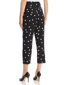 AQUA - Belted Polka Dot Pants - 100% Exclusive