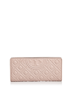 Tory Burch Fleming Slim Quilted Leather Wallet