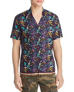 BLANKNYC - Short-Sleeve Floral-Print Regular Fit Shirt