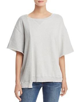 Hudson - Asymmetric Color-Block Sweatshirt