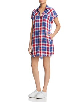Billy T - Plaid Shirt Dress