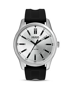 HUGO - #RISE Black Rubber Strap Watch, 44mm