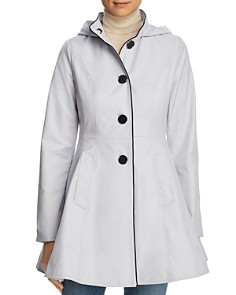 Laundry by Shelli Segal - Fit-and-Flare Contrast Stitched Anorak