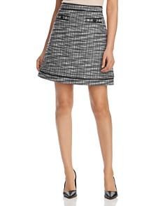 KARL LAGERFELD Paris - Tweed A-Line Mini Skirt