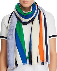 Tory Burch - Traveler Striped Oblong Scarf
