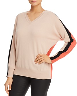 Armani - Color-Blocked Cashmere Sweater