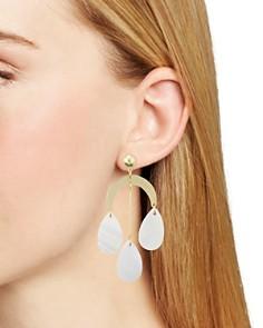 AQUA - Triple Shell Drop Earrings - 100% Exclusive