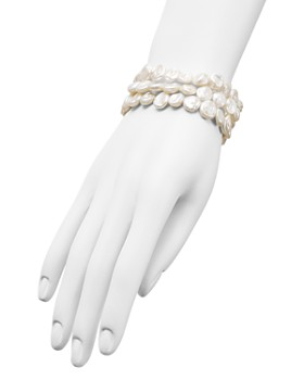 AQUA - Cultured Freshwater Pearl Stretch Bracelets, Set of 3 - 100% Exclusive
