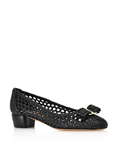 Salvatore Ferragamo - Women's Vara Woven Leather Pumps