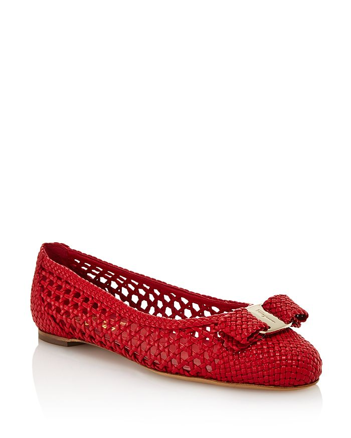 Salvatore Ferragamo - Women's Varina Woven Leather Ballet Flats