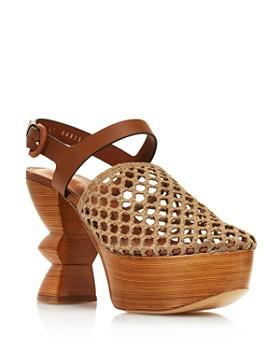 Salvatore Ferragamo - Women's Antium Carved-Heel Platform Pumps
