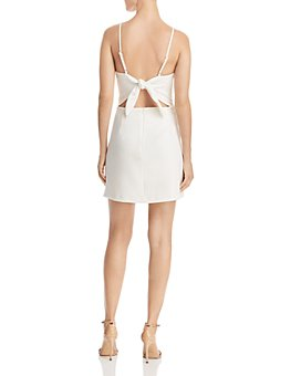 FRENCH CONNECTION - Whisper Sweetheart Tie-Back Mini Sheath Dress