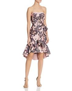 Aidan Mattox - Strapless Floral Dress