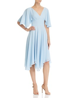Fame and Partners - Flutter Crepe Dress