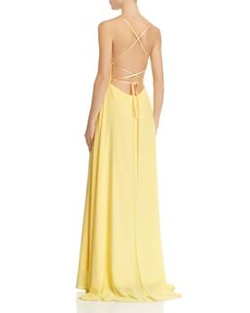 Avery G - Lace-Up Chiffon Gown