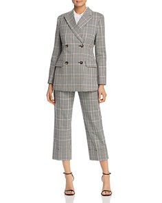 kate spade new york - Plaid Double-Breasted Blazer