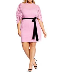 City Chic Plus - Embrace Draped-Sleeve Dress