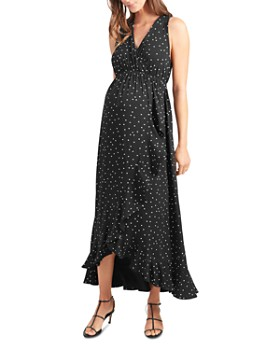 Ingrid & Isabel - Maternity Racerback Ruffle Maxi Dress