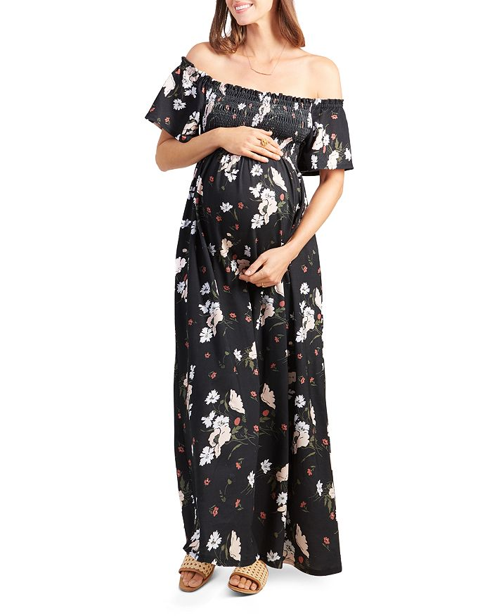 c9a72dc6f5b2 Ingrid & Isabel Maternity Smocked Off-the-Shoulder Maxi Dress ...