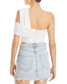Amur - x RCGD Marty One-Shoulder Bustier Top
