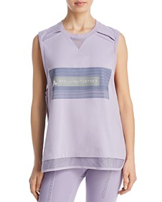 adidas by Stella McCartney - Mesh-Hem Logo Tank