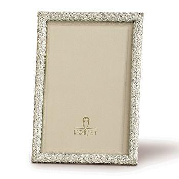 """L'Objet - """"Platinum White"""" Frame, 4"""" x 6"""""""