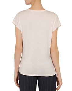 Ted Baker - Selmaa Elegance Woven-Front Tee