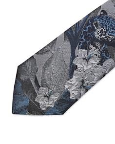 Ted Baker - Told Floral Jungle Scene Silk Skinny Tie