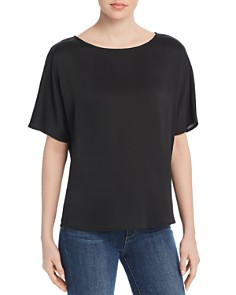 VINCE CAMUTO - Pleat-Back Satin Top