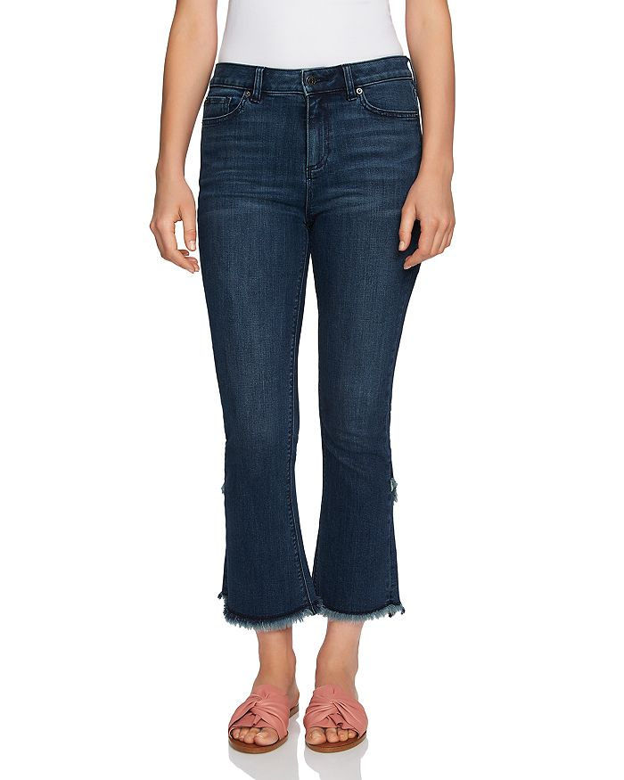 1.STATE - Flared Tulip Hem Jeans in Meadow Wash