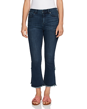 1.state Flared Tulip Hem Jeans in Meadow Wash