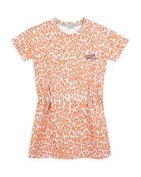 Kenzo - Girls' Cinched Leopard Print Jersey Dress - Big Kid