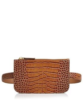 Alice.D - Croc-Embossed Rectangle Belt Bag